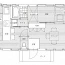 木造平屋建てバリアフリー住宅の写真 図面