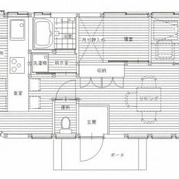 木造平屋建てバリアフリー住宅 (図面)