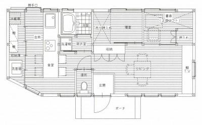 図面 (木造平屋建てバリアフリー住宅)