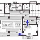 「バリアフリー」と「心地よさ」をかなえた シニア向けリフォーム:コンクリート住宅のリノベーションの写真 図面
