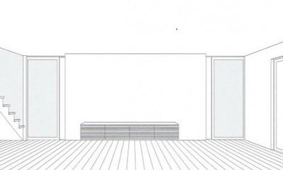 「バリアフリー」と「心地よさ」をかなえた シニア向けリフォーム:コンクリート住宅のリノベーション (スケッチ:リビング)