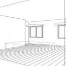 ホームエレベーターがあるバリアフリー住宅|遮音・防音構造の住宅(ガレージハウス)の写真 スケッチ:寝室