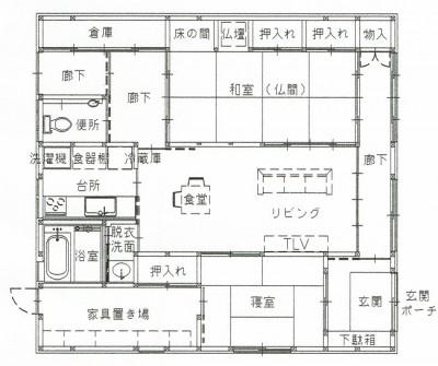 図面 (平屋に住まう:夫婦二人に ちょうどいいシンプルな住まい)