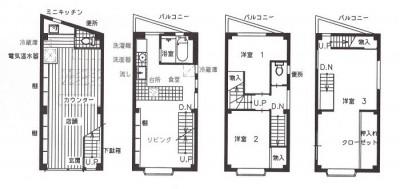 店舗(自然派日用品)付き住宅のリフォーム (図面)