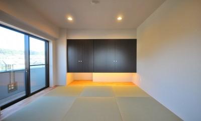 和室 (築24年のマンションを英国家具にマッチさせるスタイリッシュなテイストにリノベ!平日と休日のライフスタイルの変化にも対応できる生活動線)