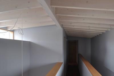二階 階段室、廊下 (あつまる。にわ。かたち。〜多世帯であつまってすむ〜)