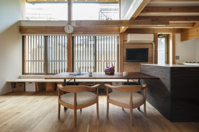 東大阪の家 (リビング・ダイニング)