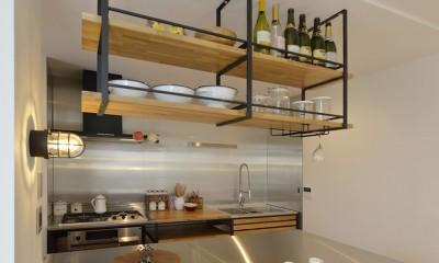 ヴィンテージスタイル キッチン 長久手市 ヴィンテージ雑貨の似合う戸建リノベーション #ブルックリンスタイル #男前リノベーション