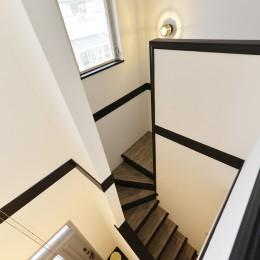 長久手市 ヴィンテージ雑貨の似合う戸建リノベーション #ブルックリンスタイル #男前リノベーション (ヴィンテージ調 階段室)