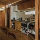 収納家具にプラスαの機能を付けた収納をテーマにした家(野路の家)の写真 造作キッチン