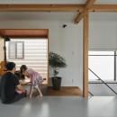 収納家具にプラスαの機能を付けた収納をテーマにした家(野路の家)の写真 フリースペース