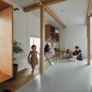 収納家具にプラスαの機能を付けた収納をテーマにした家(野路の家)の写真 子供室