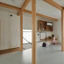 収納家具にプラスαの機能を付けた収納をテーマにした家(野路の家)の写真 キッズルーム