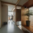 収納家具にプラスαの機能を付けた収納をテーマにした家(野路の家)の写真 廊下