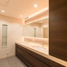 洗練されたホテルライクな洗面室 (ホテルライクな洗面室)