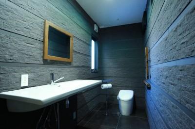 インダストリアルなトイレ (異素材で造るインダストリアルなトイレ)