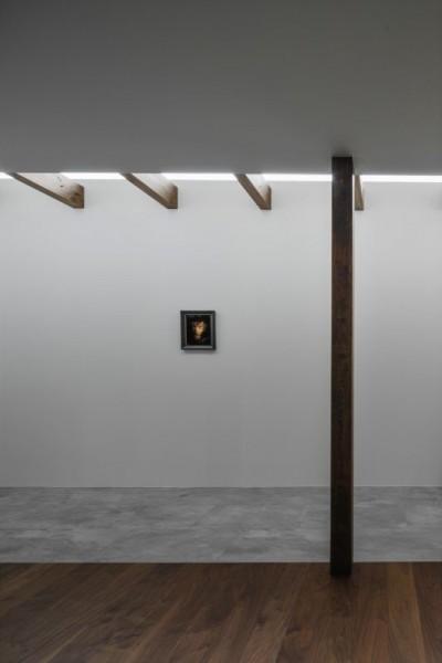 間接光を取り入れた廊下 (プライバシーを確保しながら光を取り入れる美術館のような家(石部東の家))