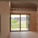 休耕地に建つ女性のための住宅の写真 休耕地の家|ロフトタイプの広間4