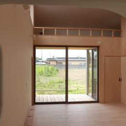 休耕地の家~農地転用後の平屋の住まい~ (休耕地の家|ロフトタイプの広間4)
