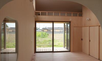 休耕地の家|ロフトタイプの広間4|休耕地の家~農地転用後の平屋の住まい~