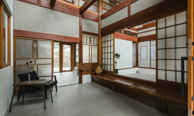玄関|古民家カフェみたいな日本家屋リノベーション(下戸山の家リノベーション)