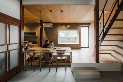 ダイニング (古民家カフェみたいな日本家屋リノベーション(下戸山の家リノベーション))