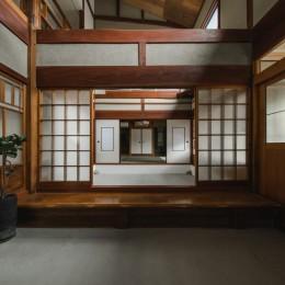 古民家カフェみたいな日本家屋リノベーション(下戸山の家リノベーション) (玄関)