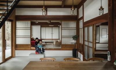 土間|古民家カフェみたいな日本家屋リノベーション(下戸山の家リノベーション)