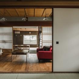 古民家カフェみたいな日本家屋リノベーション(下戸山の家リノベーション) (リヴィング)