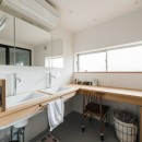 古民家カフェみたいな日本家屋リノベーション(下戸山の家リノベーション)の写真 洗面室