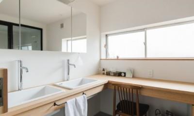 洗面室|古民家カフェみたいな日本家屋リノベーション(下戸山の家リノベーション)