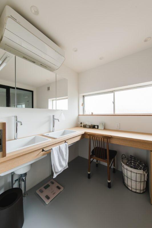 古民家カフェみたいな日本家屋リノベーション(下戸山の家リノベーション) (洗面室)