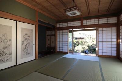 和室 (日本家屋の平屋をアンティークにリノベ(信楽の家リノベーション))