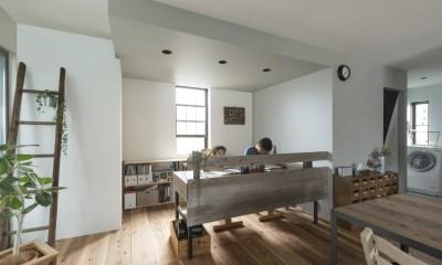 キッチンをLDKの中心に家族が繋がる家(野洲の家リノベーション) (子供部屋)