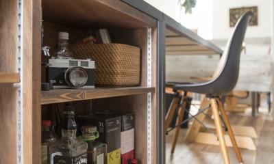 キッチンをLDKの中心に家族が繋がる家(野洲の家リノベーション) (収納)