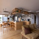 猫と植栽と家具をテーマにしたマンションリノベ(におの浜マンションリノベーション)の写真 リビングダイニング