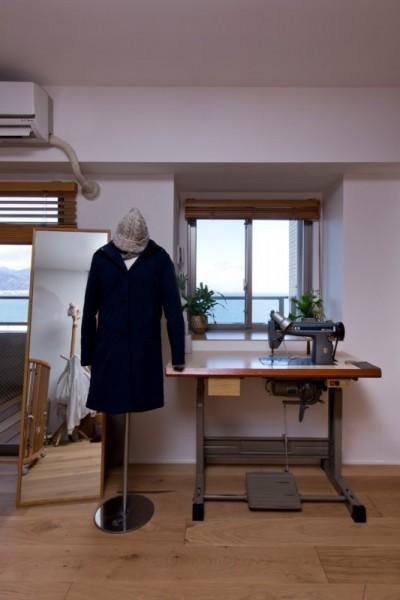 裁縫部屋 (猫と植栽と家具をテーマにしたマンションリノベ(におの浜マンションリノベーション))