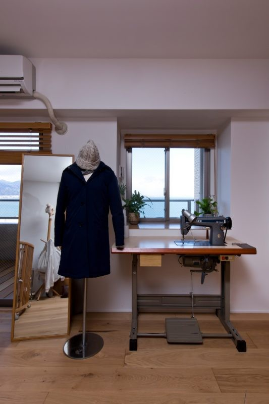 猫と植栽と家具をテーマにしたマンションリノベ(におの浜マンションリノベーション) (裁縫部屋)