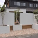 9平米の増築と外構でつながる広がりのある家(城東の家リノベーション)の写真 外観