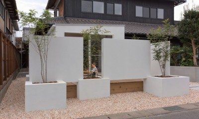 外観|9平米の増築と外構でつながる広がりのある家(城東の家リノベーション)