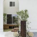 やわらかな光を取り入れるアール開口のある家(大津の家)の写真 外観