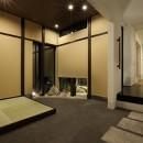 室内まで続く路地のあるゲストハウス(宇治民宿・宇治壱番宿にがうり)の写真 土間