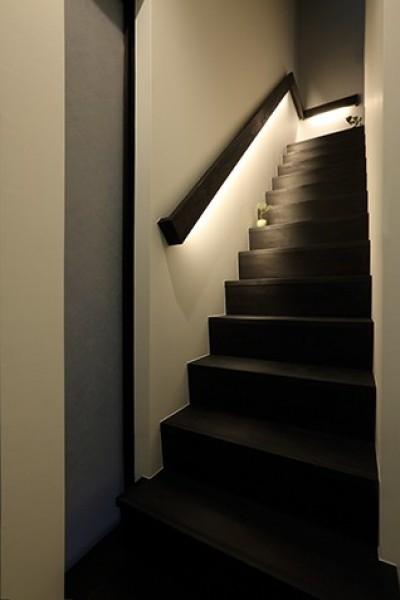 階段 (室内まで続く路地のあるゲストハウス(宇治民宿・宇治壱番宿にがうり))