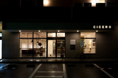 アイアンフレームを使ったオシャレなカフェ(cafe CICERO) (外観)
