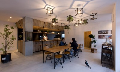 内装|アイアンフレームを使ったオシャレなカフェ(cafe CICERO)