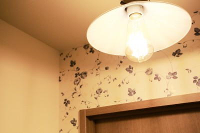 トイレ照明 (好きなモノに囲まれて暮らす~ナチュラルテイストな家)