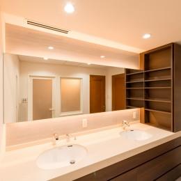 洗練されたホテルライクな洗面室