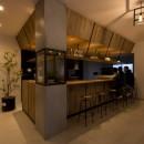 アイアンフレームを使ったオシャレなカフェ(cafe CICERO)の写真 店内