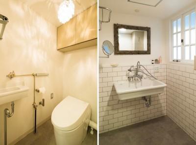 トイレ&洗面 (好きなものに囲まれて)