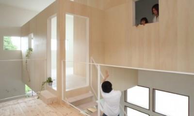 家の中に家がある多様な広がりのある家(安土の家) (二階)